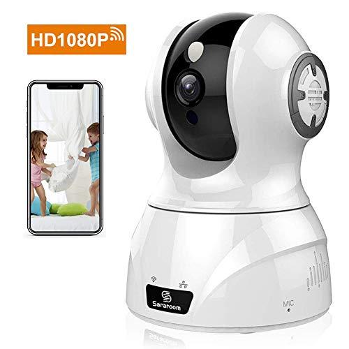 Caméra IP sans Fil WiFi de Sararoom, système de Surveillance de sécurité pour caméra Domestique 1080P avec Vision Nocturne pour la Maison, Le Bureau et Le Moniteur pour bébé