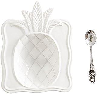Mud Pie Pineapple 2-piece Ceramic Candy Dish Set