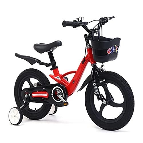 16 Pulgadas Bici Infantiles Bicicleta NiñOs Una Rueda AleacióN De Magnesio, Altura del SillíN Ajustable, Freno De Disco De La Rueda Trasera, Adecuado para NiñOs De 6~10 AñOs