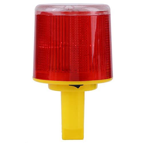 1pc solaire LED d'urgence alerte lumière flash lampe d'alarme trafic route bateau lumière rouge