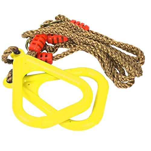 Wosune Un par de Anillo de Gimnasio, Anillo de Fitness, Ajustable para Juegos Infantiles, Accesorio Ideal para Juguetes, Anillo Colgante para niños, Uso en Interiores y Exteriores(Yellow, 12)