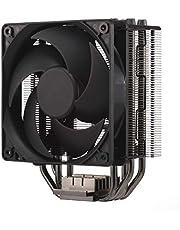 Cooler Master Hyper 212 svart utgåva CPU kylsystem – tyst, elegant och exakt, 4 kontinuerlig direkt kontakt värmeledningar med fenor, Silencio FP120 fläkt