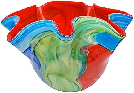 Escudilla de Cristal Vidrio Murano Estilo Antiguo -24cm- Fazzoletto