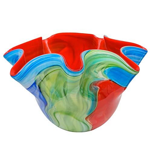 Glasschale Schale Glas im Stil Murano Antik Stil -24cm- Fazzoletto