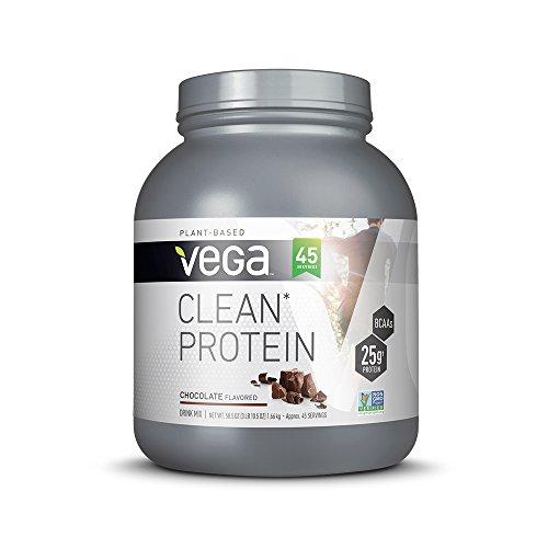 Vega Clean Protein Powder Vanilla (15 Servings, 18.3oz) - BCAAs, Vegan, Non Dairy, Gluten Free, Non GMO