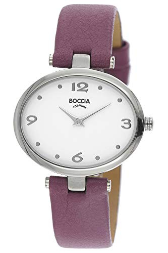 Boccia Damen Analog Quarz Uhr mit Leder Armband 3295-02