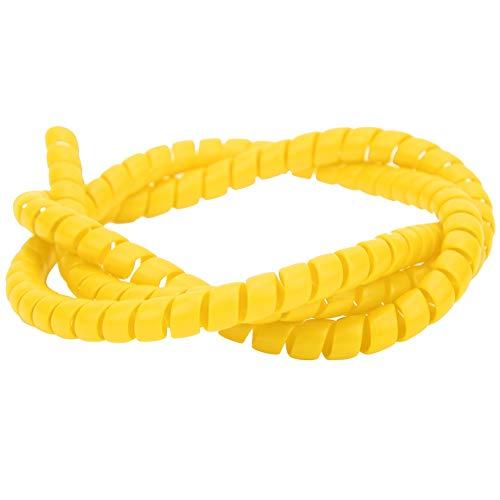 MAGT Cable Espiral xiaomi m365, Tubo Espiral de línea de Freno Cable Protector de la Carcasa Protector de la Cubierta Accesorios para Xiaomi M365 Scooter eléctrico(Amarillo)