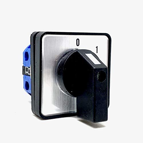 Interruptor giratorio de levas (2 polos 25 A)