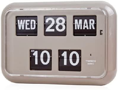 twemco Homeloo German Quartz Large-scale sale Retro Calendar Clo In stock Wall Modern Flip
