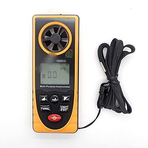 SUIWO Anémomètre Numérique Anémomètre numérique portable Vitesse du vent mètre Gauge multi-fonction Thermomètre et hygromètre Pression atmosphérique illuminometer Altitude Direction de lumière ambiant