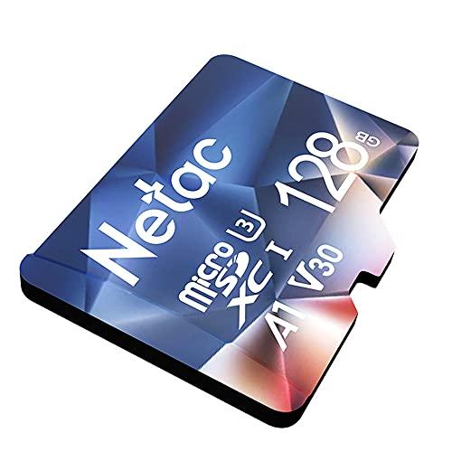 Netac Micro SD Card 128GB, MicroSDXC Card 128GB MicroSDHC Memory Card - UHS-I, 100MB/s, 667X, U3, C10, V30, A1, EXFAT TF Card Micro SD Card
