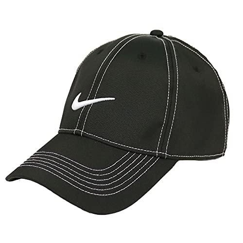 NIKE ナイキ キャップ メンズ レディース 帽子 Nike Golf - Swoosh Front Cap ローキャップ ドライフィット スポーツ ゴルフ おしゃれ ジム トレーニング ブラック 黒 [並行輸入品]