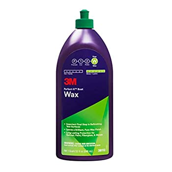 3M Perfect-It Boat Wax 36113 1 Quart Contains Carnauba Wax Protects against Weather and Oxidation For Boats and RVs