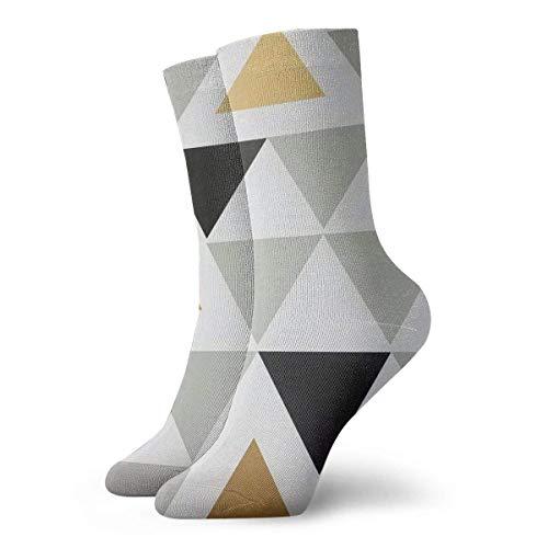 Kevin-Shop driehoek en plank volwassenen korte sokken klassieke sokken voor heren dames yoga wandelen fietsen lopen voetbal sport