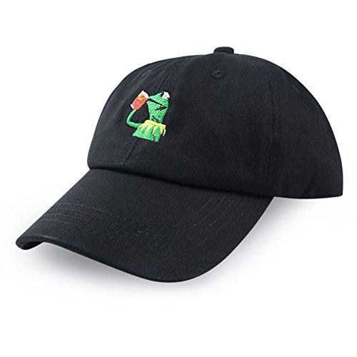 Antery Baseballkappe, Kermit None My Business, verstellbare Kappe, Frosch, Tee Gr. Einheitsgröße, Schwarz
