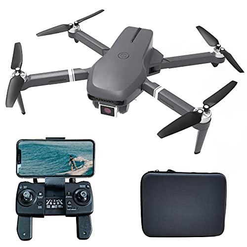 le-idea IDEA31 Drone GPS Plegable con Camara 4K HD, 5GHz WiFi FPV Transmisión Video, Motor sin Escobillas, Posicionamiento de Flujo Óptico, Drones Quadcopter con Camara Profesional para Adultos
