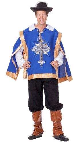 r-dessous hochwertiges Herren Musketierkostüm Ritter Outfit für Groesse: L/XL