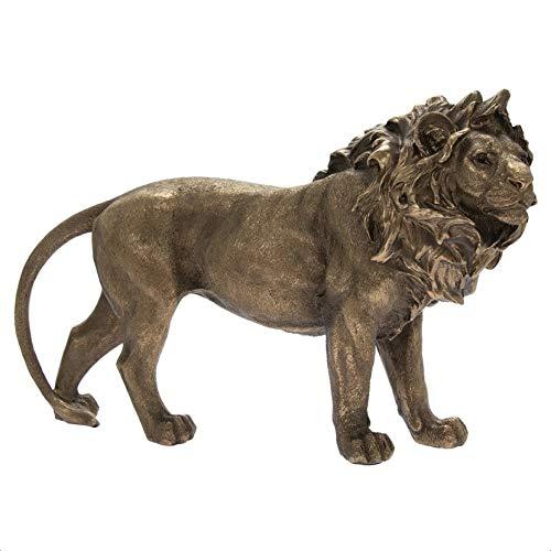 The Leonardo Collection LP46125 Reflections Bronzed Lion Ornament, 31x8x19cm, Boxed