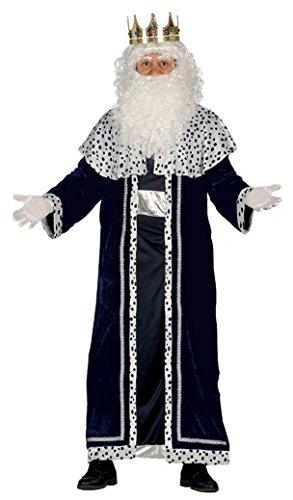 Guirca- Disfraz Rey Mago Melchor para adulto, Color negro, talla L (42400.0) , color/modelo surtido