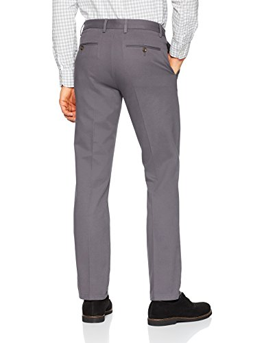 Amazon Essentials Men's Slim-Fit Wrinkle-Resistant Flat-Front Chino Pant, Grey, 33W x 32L