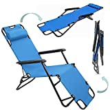 RHC-202 Folding Camping Reclining Chairs,Sports Infinity Zero Gravity Chair, Adjustable Folding Patio Outdoor Chaise Lounge Chairs with Pillow Recliners for Poolside Beach Yard Lawn