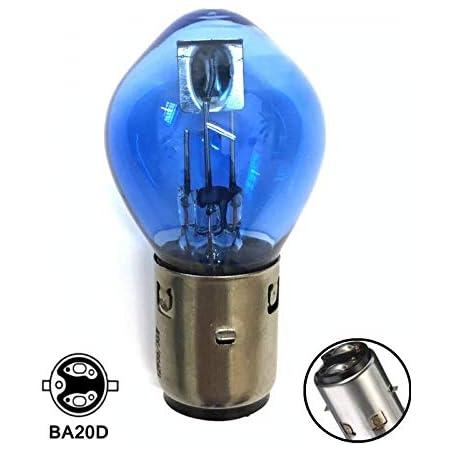 1x Stück Blue Vision Glühbirne 35 35w 12v Ba20d 2 Faden System Bilux Lampe Leuchtmittel Roller Motorrad Moped Hallenwerk Auto