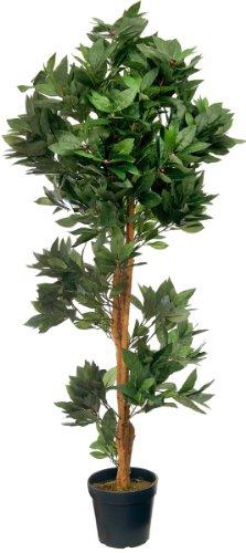 McPalms Lorbeerbaum 1,20 m künstlich Kunstbaum Kunstpflanze Echtholzstamm