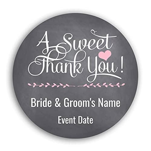 Etiquetas personalizadas personalizadas, pegatinas personalizables, etiquetas engomadas de agradecimiento para bodas y...