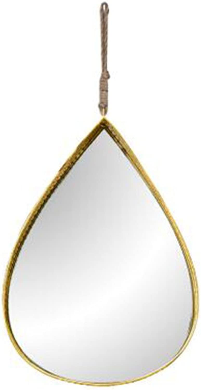 MAL Spiegelschmiedeeiserner Wandspiegelwanddekorationsbadezimmer-Schnheitsspiegelwassertropfen-kreativer Dekorativer Spiegel (Farbe   A)