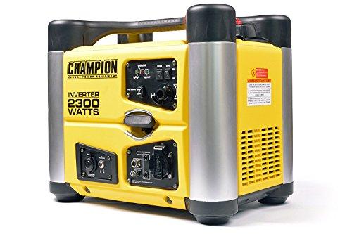 Champion 2300 Watt Inverter Benzin Generator Notstromaggregat Stromerzeuger EU, 3.8 liters, Gelb-Schwarz