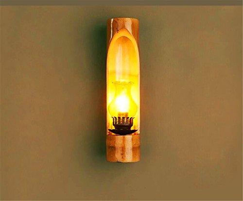 JLXMZX Mur Lampe Jardin personnalité créative Bambou Mur Lampe Chinois Antique thé Maison Club café Canal Bambou Applique E14 * 1 (sans lumière) / Taille: 8.5 * 35 (CM)