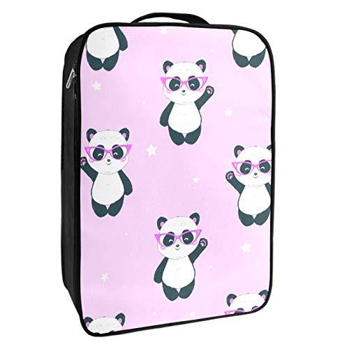 Schuh-Aufbewahrungsbox für Reisen und den täglichen Gebrauch, Panda, verabschieden Sie sich von Schuh-Organizer, tragbar, wasserdicht bis zu 12 m, mit doppeltem Reißverschluss und 4 Taschen.