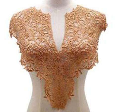 1Pc Lace kraag Applique kettingen naaien accessoires Vintage Lace hals Choker ketting DIY Craft rood zwart wit roze, front goud