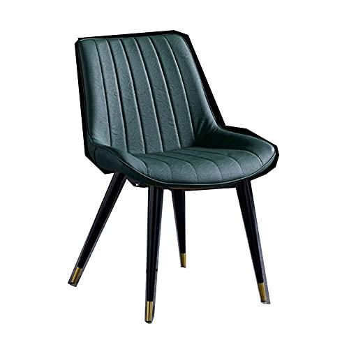 zyy Esszimmerstühle Esszimmerstühle 2er-Set Jahrgang Luxuriöse Küchenstühle PU-Leder verdicken Sitz mit Rückenlehne Metallbeinen Nordic Dining Chairs for Restaurant Hotel Tagungsraum Stühle