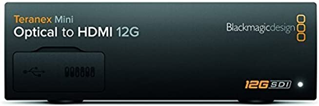 Blackmagic Design Teranex Mini Optical to HDMI 12G   SD HD Ultra HD Supported Converter