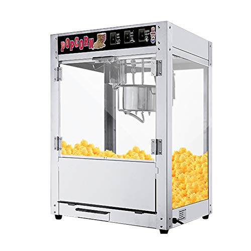 Commercial Electric Popcorn Maker, 1400w Automatic Popcorn Machine With Stainless Steel Glass And Insulated Lighting…