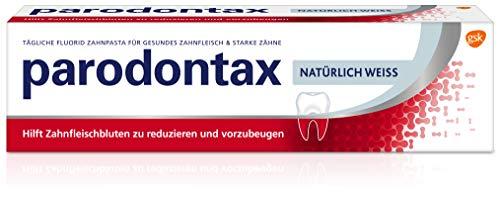 Parodontax Natürlich Weiss, tägliche Zahnpasta, 1x75ml, hilft Zahnfleischbluten zu reduzieren und vorzubeugen