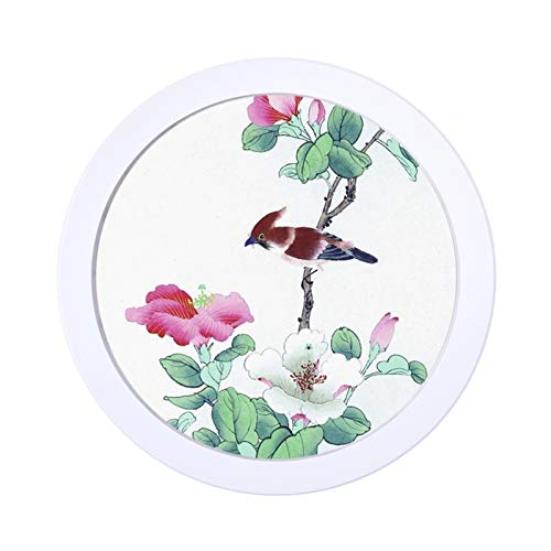Agnes Bruce Photo Frames Round Photo Frame DIY Wooden Photo Frames Wall Mounted Hanging Picture Frames Gifts Cadre Photo Murale Living Room Decor (Color : White Photo Frame, Size : 12 inch)