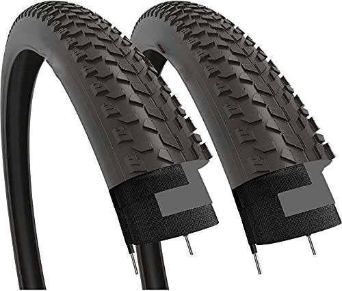 Hclshops 100-559 - Par de neumáticos de grasa para la montaña de carretera, MTB, barro, Dirt Offroad, bicicleta (2 unidades)