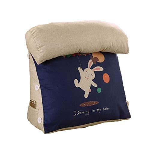 VISZC Lesekissen mit Rundkissen, super gefüllt für Komfort und richtige Haltung, waschbarer Bezug, Lounge oder Arbeit im Bett