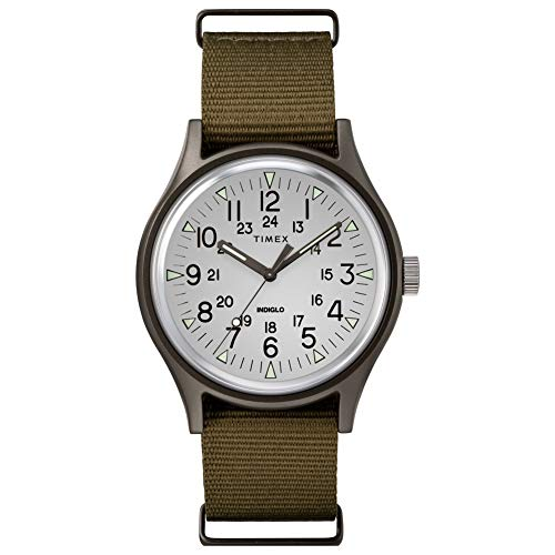 Timex Men's MK1 Aluminum 3-Hand Olive/Silver One Size