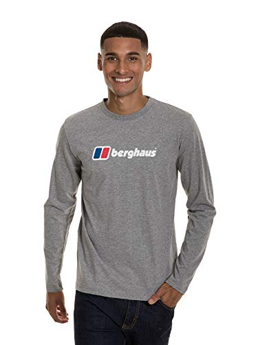 Berghaus UK Big Corp T-Shirt à Manches Longues pour Homme XS Gris chiné