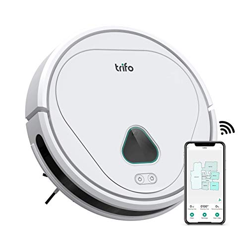Trifo Robot Vacuum Cleaner, 3000Pa Strong Suction, Home Security Camera,Ideal for Pets Hair, Home Mapping, Self-Charging Robotic Vacuum, Wi-Fi Connected, APP Control, Hard Floors and Low-Pile Carpets