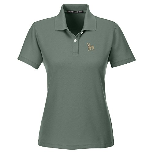 YourBreed Clothing Company French BullDog Embroidered Ladies Cotton Golf Shirt