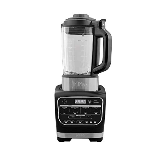Ninja HB150EU Soup Maker & Blender Suppenbereiter, Stainless Steel Blades/Thermo Resistant Glass Jug/Plastic, Black