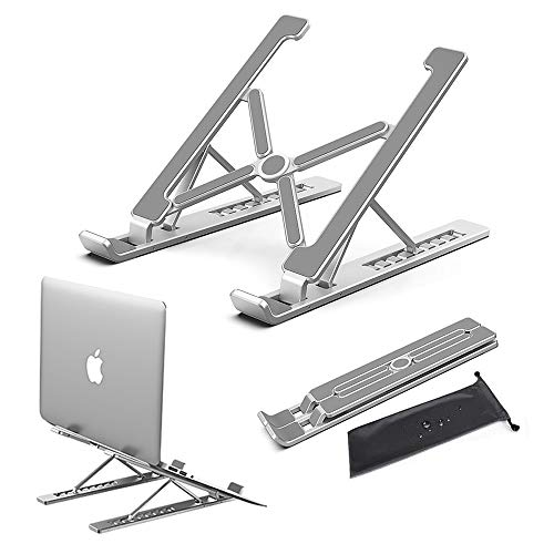 Conpro Supporto Ventilato PC Portatile, Supporto Notebook Alluminio, Laptop Stand, Supporto Laptop Regolabile, Accessori per MacBook, dell, Lenovo, HP, Tablet, Altri Laptop (10-18 Pollici)