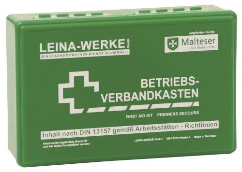 LEINAWERKE 20001 BetriebsVerbandkäste Klein DIN 13157 mit Wandhalterung grün 10 Stk.
