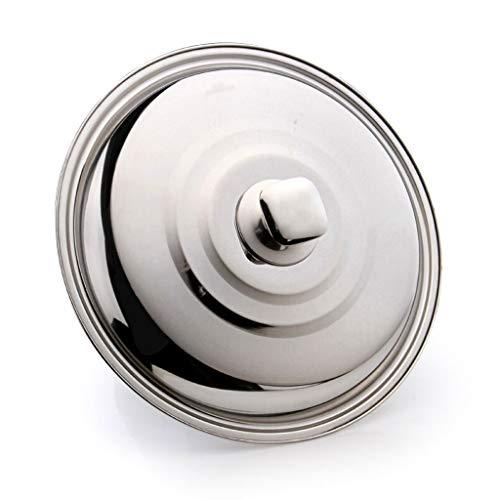Xu Yuan Jia-Shop Topfdeckel Wok-Abdeckung Edelstahl Wok Deckel Universal-verdickte Deckel mit Metallgriff-Spiegel-Oberflächen-Prozess leicht zu reinigen Universaldeckel (Größe : 34cm)