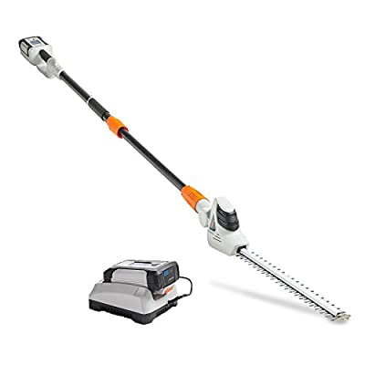 """VonHaus 40V Max Cordless 20"""" Pole Hedge Trimmer with 83.8"""" to 107.5"""" Telescopic Extension - Includes 2.0Ah Battery and Charger"""