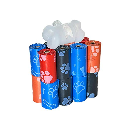Best Pet Supplies Dog Poop Bags for Waste Refuse Cleanup, Doggy Roll Replacements for Outdoor Puppy Walking and Travel, Leak Proof and Tear Resistant, Thick Plastic - Mixed Colors, 240 Bags (MX-240BT)